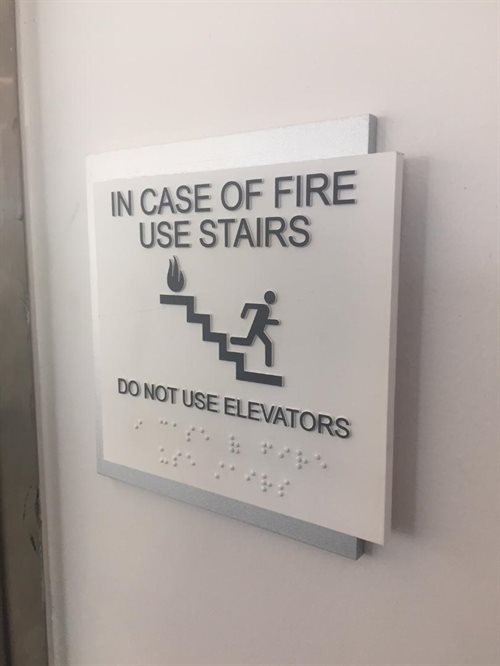 IN CASE OF FIRE 1