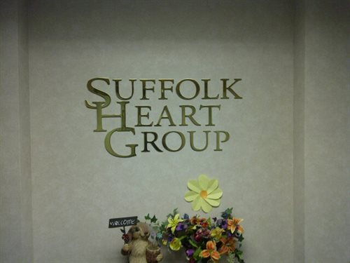 "Medical practice sign, Water jet cut, 1/4"" thick, Polished brass Logo, installed in the reception area, logo wall  Installed Village of the Branch , T"