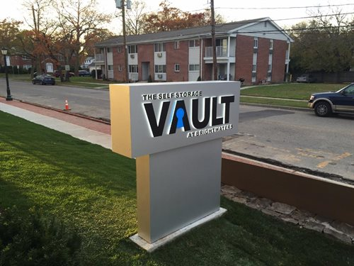 vault stencil cut monument pylon brightwaters